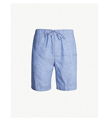 FRESCOBOL CARIOCA Sport linen-cotton blend shorts (Melange blue