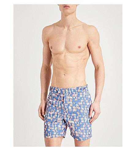 FRESCOBOL CARIOCA Dindi swim shorts (Navy+coral