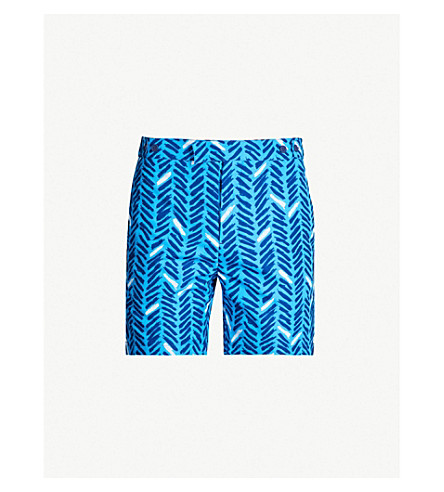 FRESCOBOL CARIOCA Pira tailored swim short (Navy/ pool blue