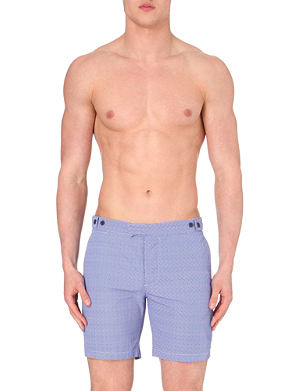 FRESCOBOL CARIOCA Geometric tailored-fit shorts