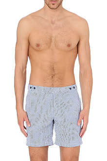 FRESCOBOL CARIOCA Geometric printed swimshorts