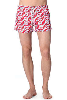 OILER & BOILER Long Island Shortie butterfly-print swim shorts