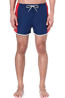 OILER & BOILER West Coast USA Navy/Lollipop swim shorts