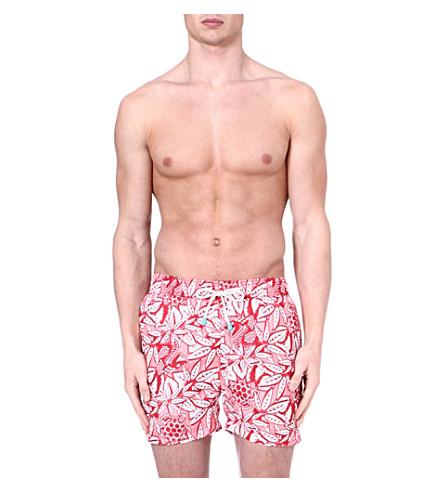 OILER & BOILER Classic yucatan swim shorts (Red