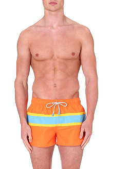 OILER & BOILER Hermosa striped-detail swimming shorts