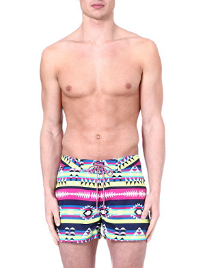 SUNDEK Fixed waist navajo swim shorts
