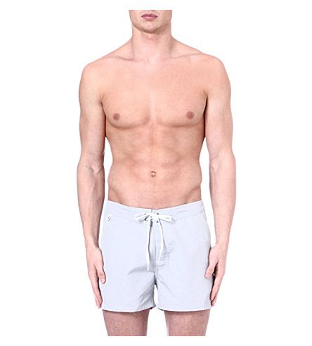 SUNDEK Fixed waistband swim shorts (Silver