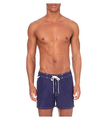 SUNDEK Tie-front swim shorts (Dark+blue