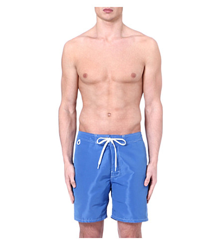 SUNDEK Fixed waistband swim shorts (Sapphire