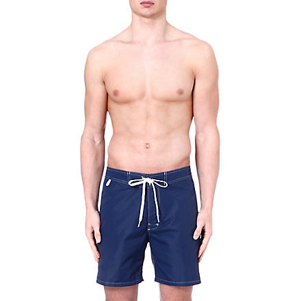 SUNDEK Fixed waistband swim shorts (Navy
