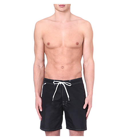 SUNDEK Fixed waistband swim shorts (Black