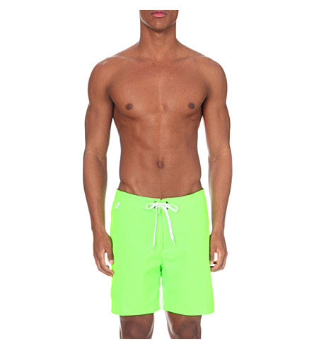 SUNDEK Tie-front swim shorts (Fluo+green