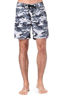 SUNDEK Camo elasticated-waist swim shorts
