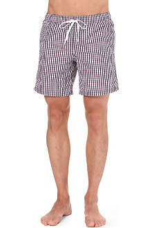SUNDEK Gingham swim shorts