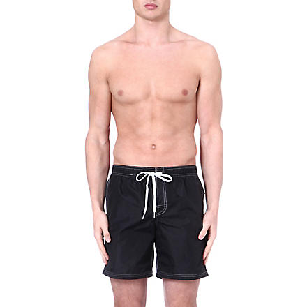 SUNDEK Elastic waist swim shorts (Black