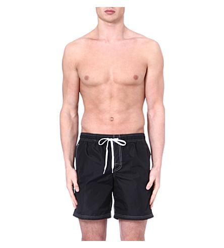 SUNDEK Elastic waist swim shorts (Black