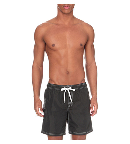SUNDEK Elasticated-waist swim shorts (Black