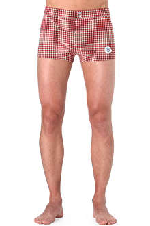 ROBINSON LES BAINS Checked swim trunks