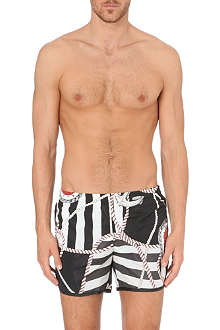 ROBINSON LES BAINS Cambridges rope-print swim shorts
