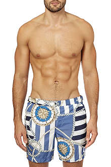 ROBINSON LES BAINS Oxford Long grement swim shorts