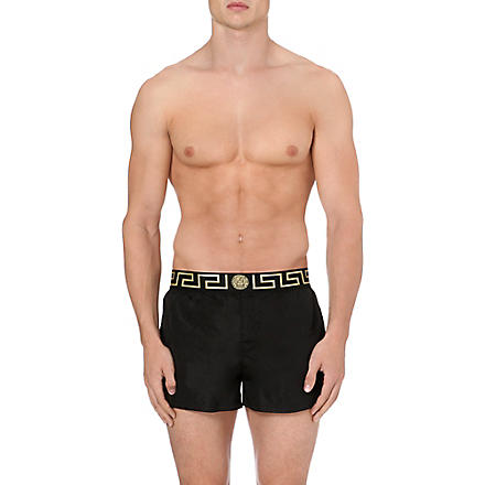 VERSACE Iconic swim shorts (Black/gold