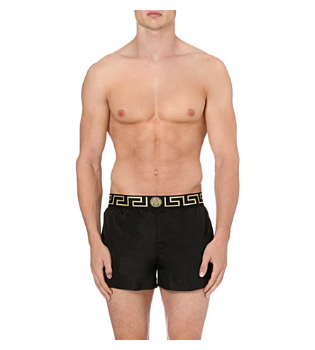 VERSACE Iconic swim shorts (Black+gold