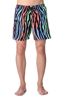 FRANKS Multicoloured zebra swim shorts