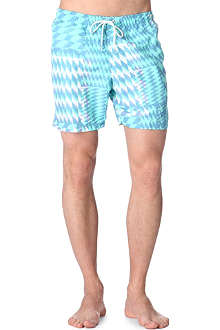FRANKS Diamond-print swim shorts