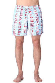 FRANKS Flag-print swim shorts