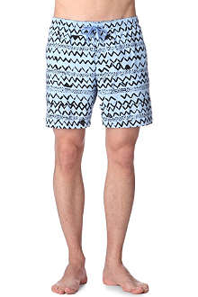 FRANKS Zig-zag swim shorts