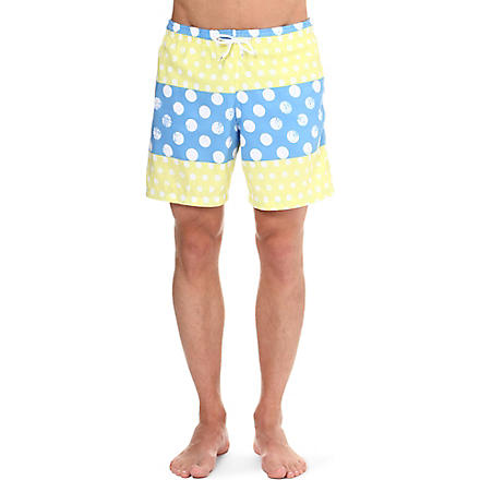 FRANKS Polka-dot swim shorts (Yellow+white+blue