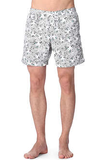 FRANKS Leopard-print swim shorts