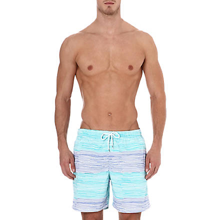 FRANKS Thin line swim shorts (Aqua