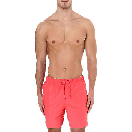 FRANKS Plain swim shorts (Crimson