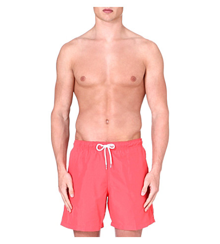 FRANKS Plain swim shorts (Red