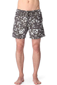 FRANKS Anchor-print swim shorts
