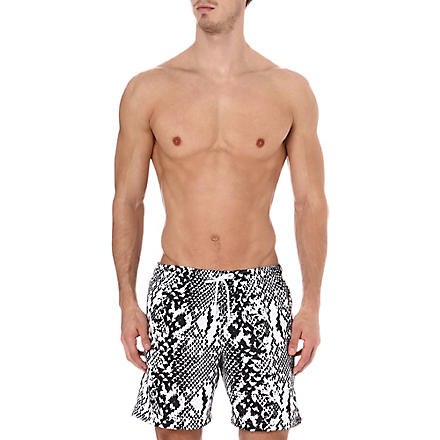 FRANKS Snake swim shorts (Black