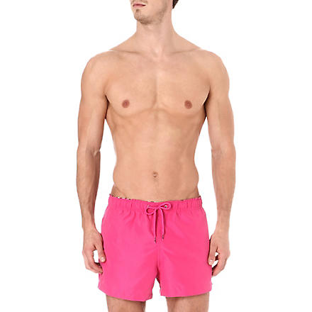 FRANKS Plain swim shorts (Magenta