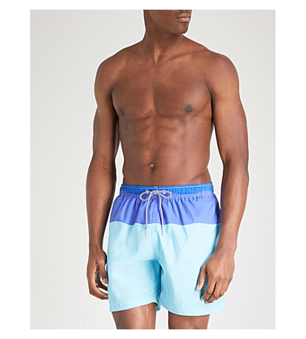 BOARDIES Block Stripe swim shorts (Blues