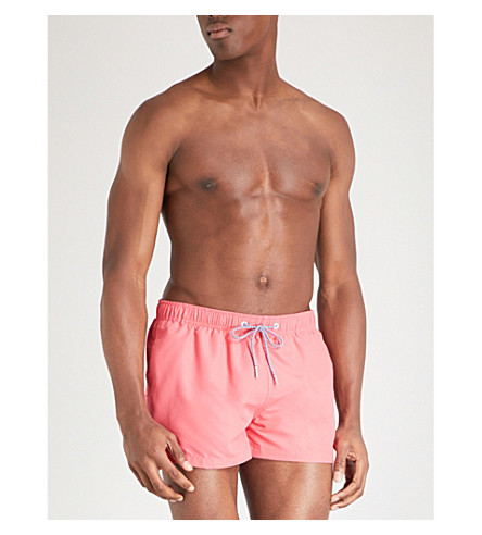 BOARDIES Solid Shortie swim shorts (Red