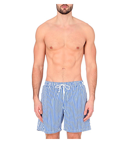 BOARDIES Deck stripe swim shorts (Royal+blue