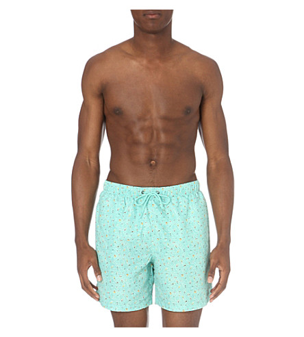 BOARDIES Khare 1 mid-length swim shorts (Green+multi