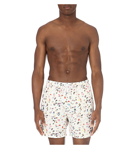 BOARDIES Khare 2 mid-length swim shorts (White+multi