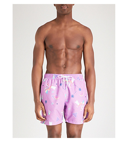 BOARDIES Boardies x Yoko Honda Surf Shortie pink swim shorts (Purple