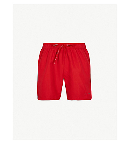CALVIN KLEIN Logo-print swim shorts (Racing+red