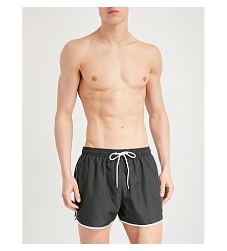 CALVIN KLEIN Runner logo-print shell swim shorts (Black