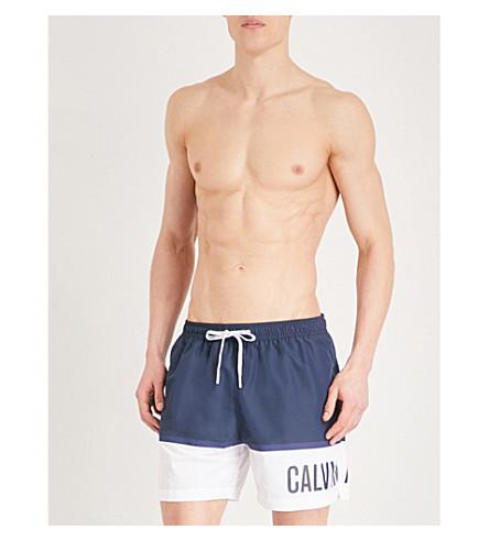CALVIN KLEIN Intense Power Plus logo swim shorts (Navy+white