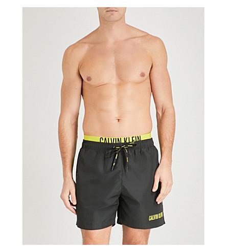 CALVIN KLEIN Intense Power double-waistband swim shorts (Black