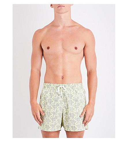 DAN WARD Printed swim shorts (Yellow
