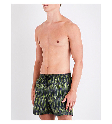 DAN WARD Printed swim shorts (Slate